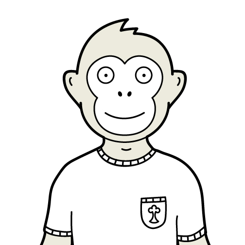 online tree cartoon image of montee the monkey